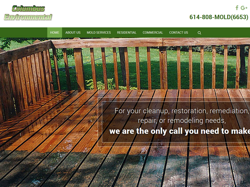 Columbus Environmental Business Website