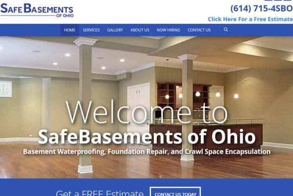 Safe Basements of Ohio Business Website