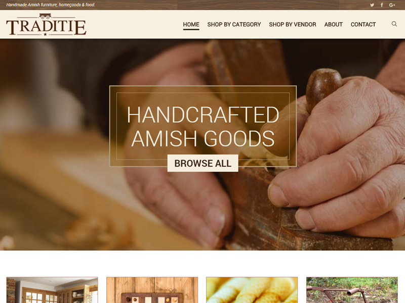 Traditie Amish Furniture Website