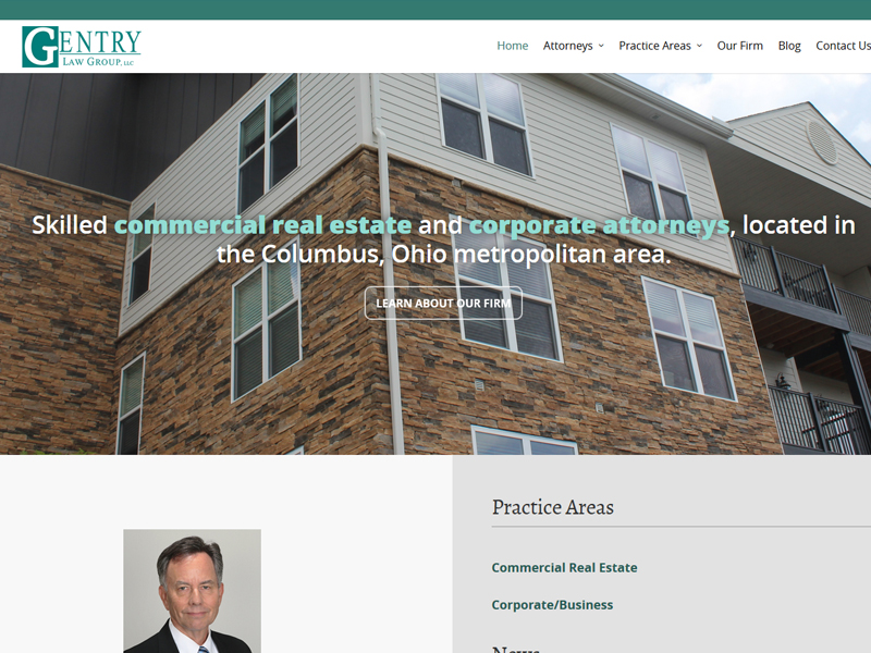 Gentry Law Group Lawyer Website