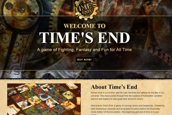 Time's End Game Board-game site