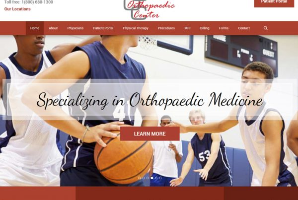 Ohio Orthopaedic Center Website