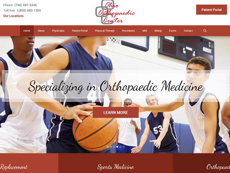 Ohio Orthopaedic Center Website