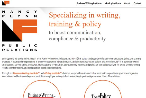 Nancy Flynn, Public Relations Business Website