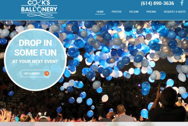 Cook's Balloonery Business Website