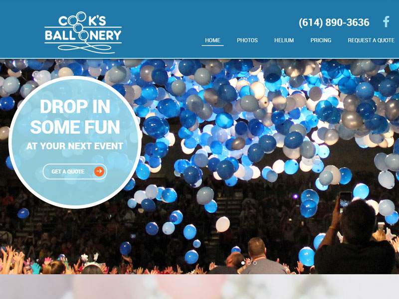 Cook's Balloonery Business Website
