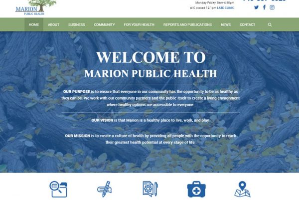 Marion Public Health Healthcare Website