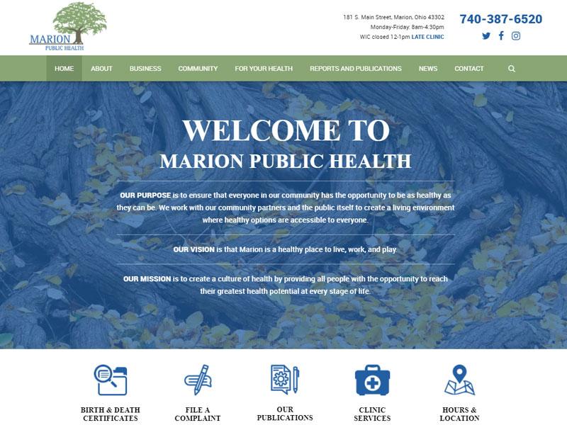 Marion Public Health Healthcare Website