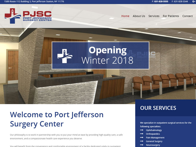 Port Jefferson Surgery Center Healthcare Website
