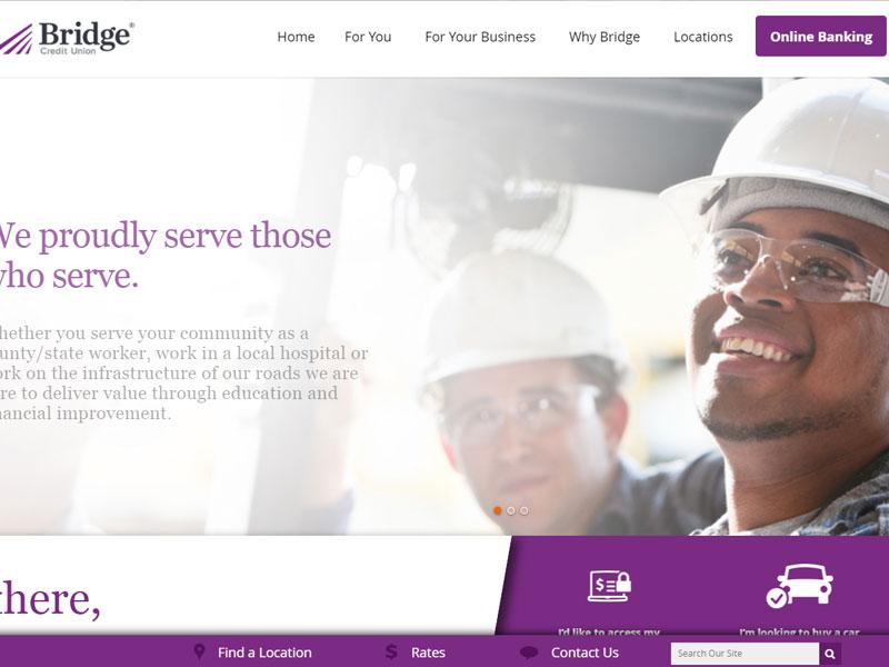 Bridge Credit Union Banking Website