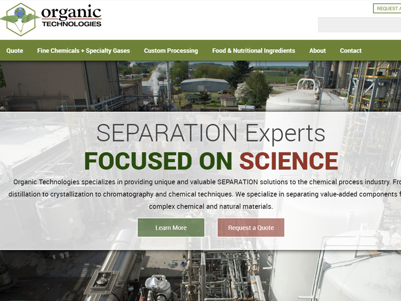 Organic Technologies Custom Chemical and Ingredient Manufacturer