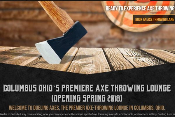 Dueling Axes Axe Throwing Lounge Website