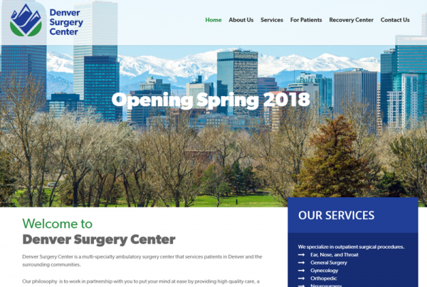 Denver Surgery Center Healthcare Website