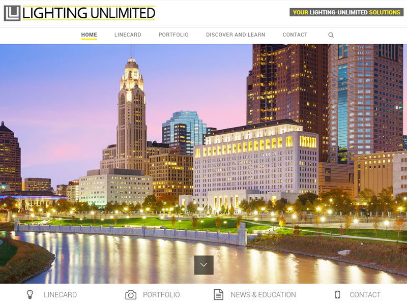 Lighting Unlimited Business Website