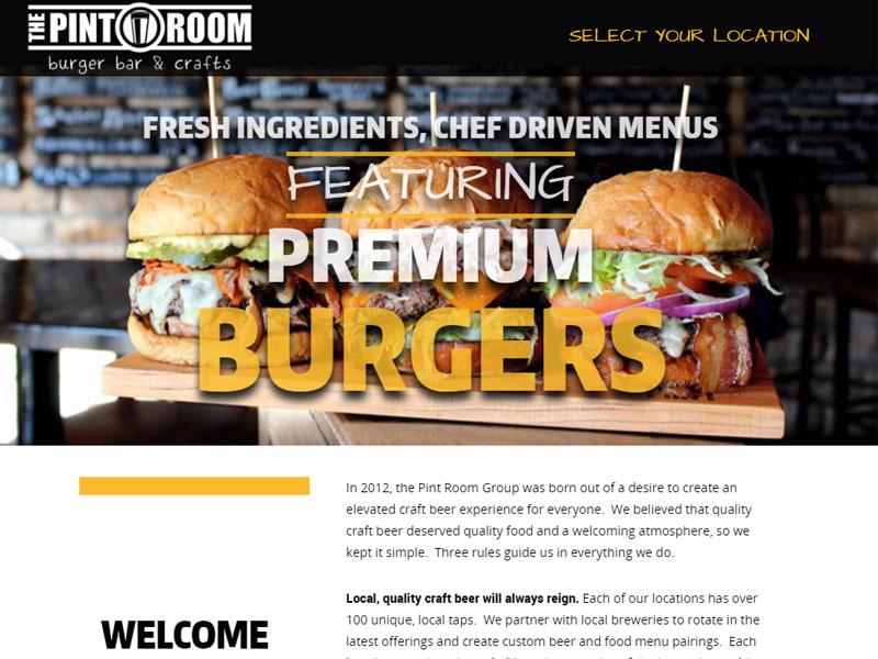 The Pint Room Restaurant Website