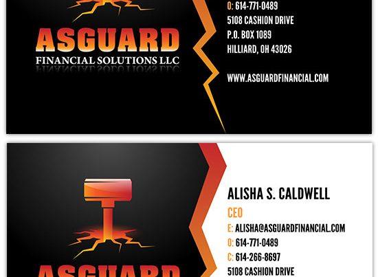 Asguard Financial Solutions LLC Business Card Design