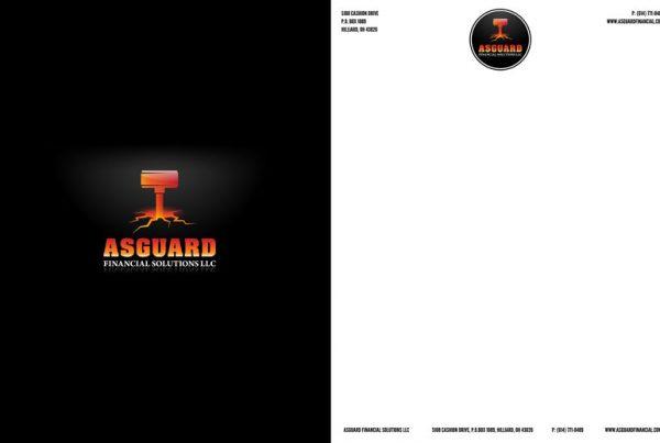 Asguard Financial Solutions LLC Letterhead and Folder Design