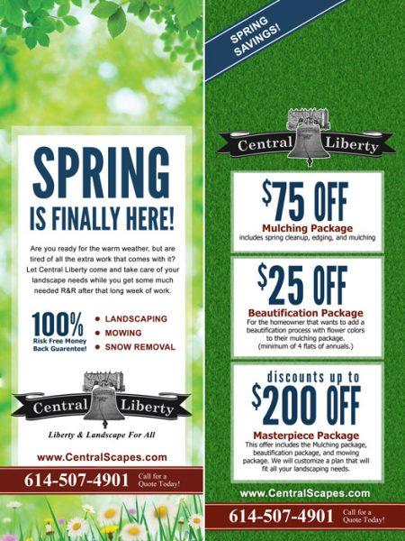Central Liberty Properties Door Hanger Design