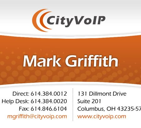 City VoIP Business Card Design