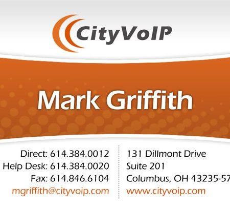 City VoIP Business Card Design