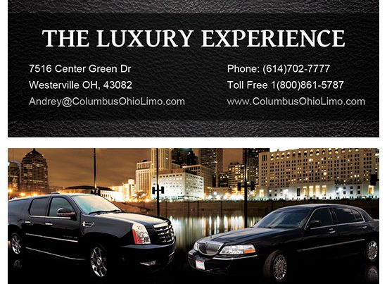 Columbus Limo and Towncar LLC Business Card