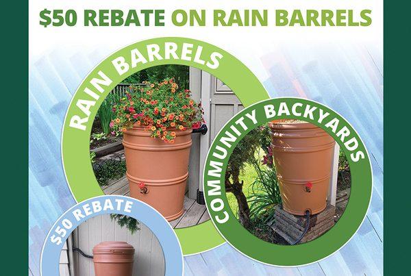 FSWCD rain resource rain barrels sign