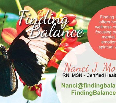 Finding Balance Business Card Design