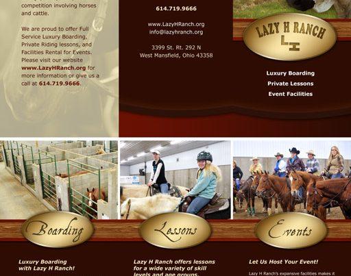 Lazy H Ranch Brochure Design