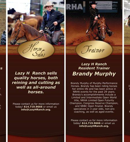 Lazy H Ranch Standup Banner Designs