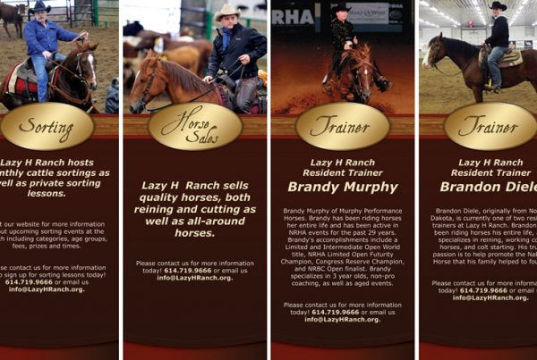 Lazy H Ranch Standup Banner Designs