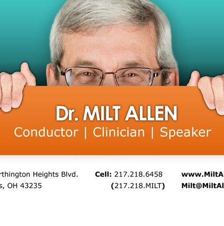 Milton Allen Business Card Design