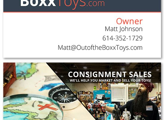 Out of the Boxx Business Card Design