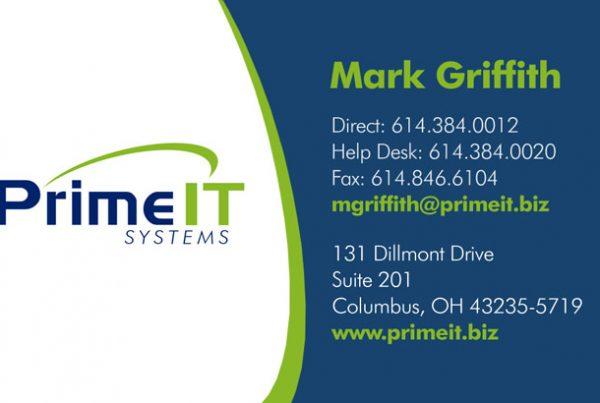 Prime IT Business Card Design