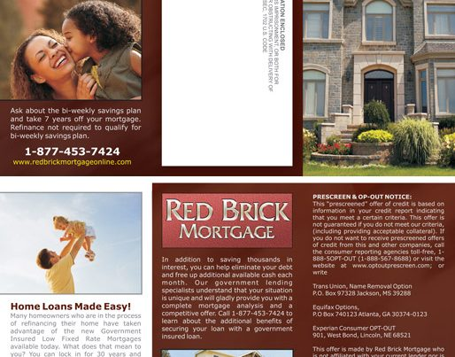 Red Brick Mortgage brochure