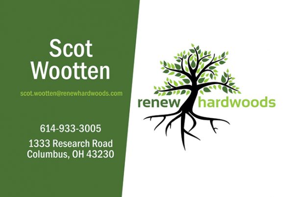 Renew Hardwoods Business Card Design