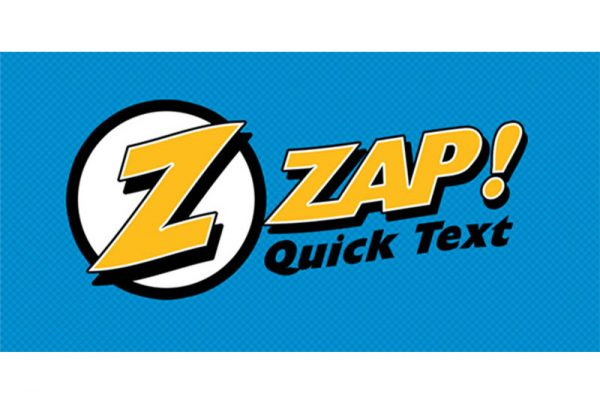 Zap Quick Text Logo