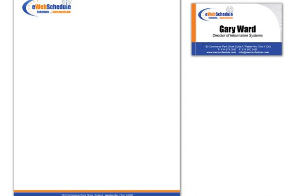 eWebSchedule Stationary and Business Card Design