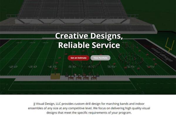 JJ Visual Design - Marching Band Design Website