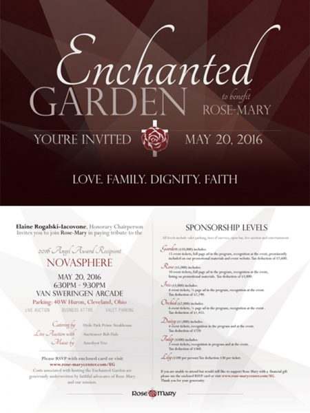 rose-mary center enchanted garden invitation