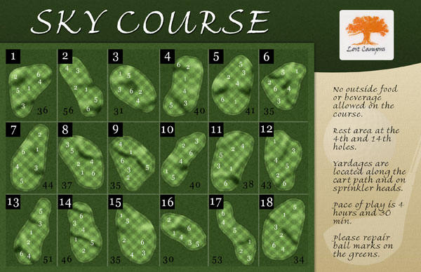 Scorecards Unlimited Sky Course