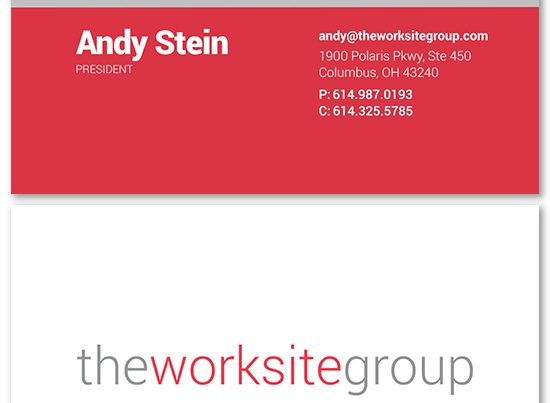 the worksite group business card design
