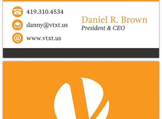 vtxt business card design