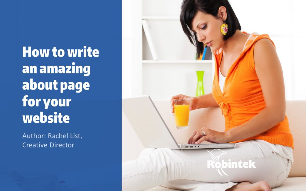 how to write an amazing about page