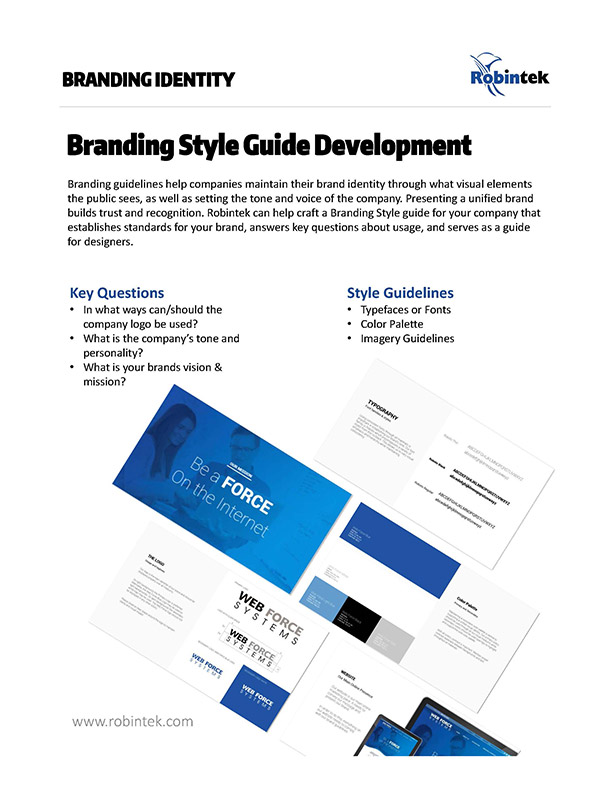 Branding and Style Guide Development and Design Services
