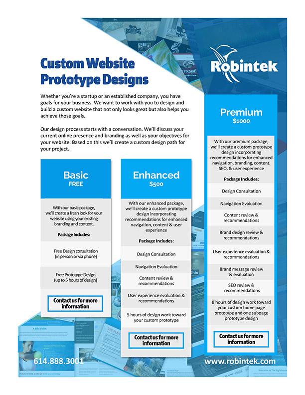 Custom Website Prototype Design