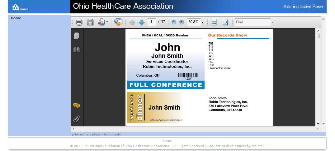 Event Management & Registration Registration Manager Name Badges
