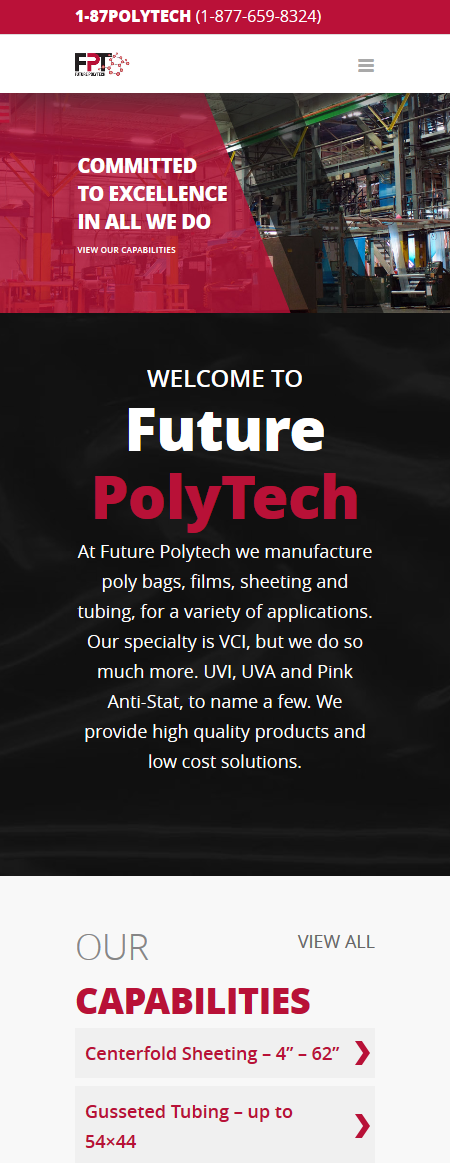 Future Polytech Mobile Responsive Website Design