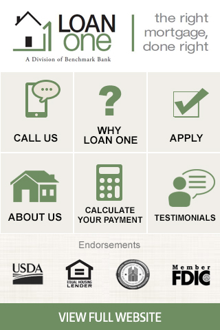 Loan One Stand Alone Mobile Website Design