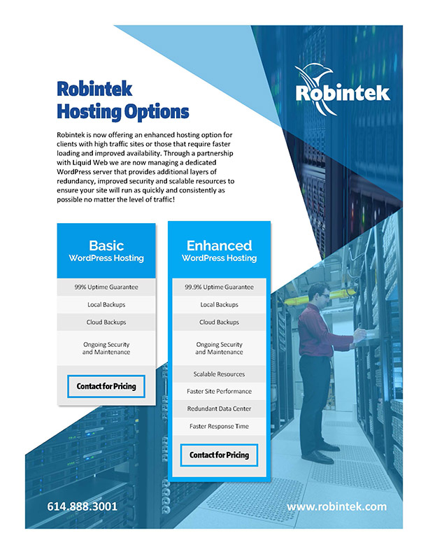 Website Hosting Options & Packages