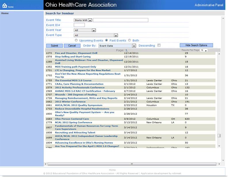 Event Management & Registration Registration Manager Seminar Manager